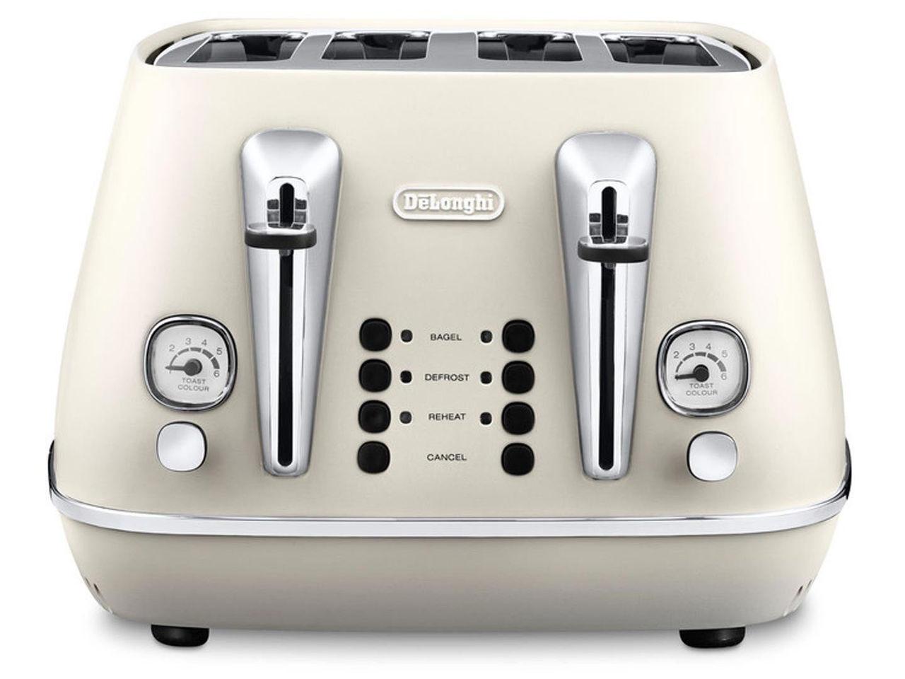 DeLonghi CTI4003W Distinta 4 Slice Toaster - Pure White