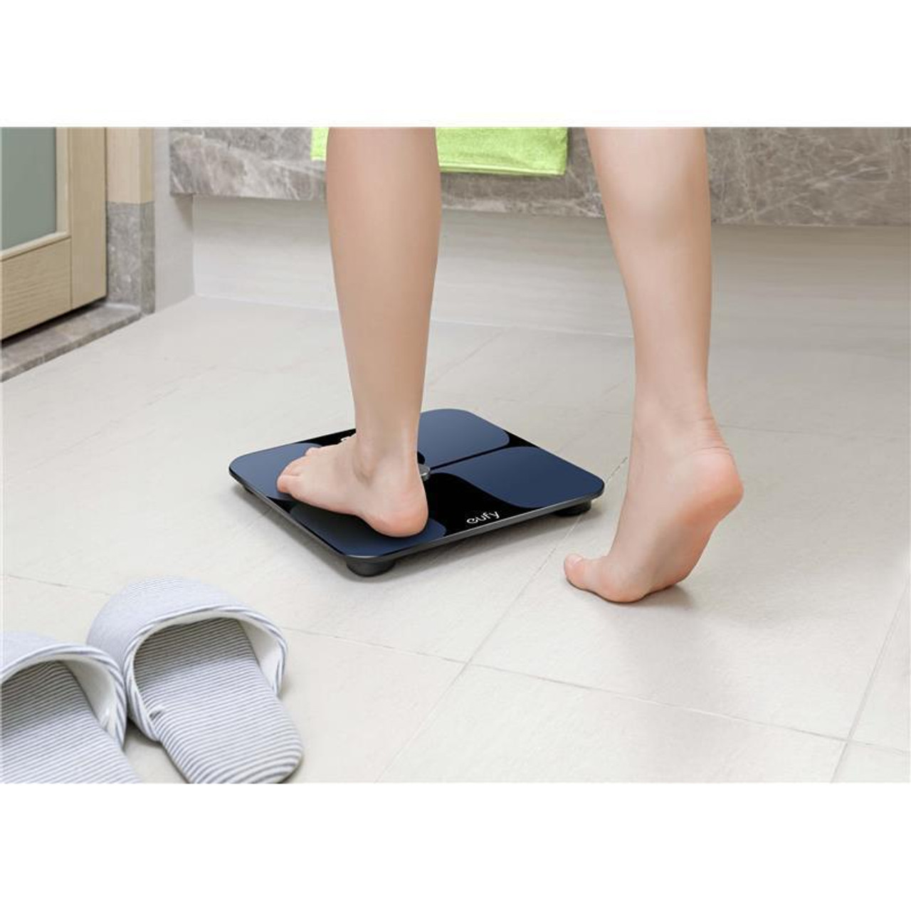 Eufy AK-T2109111 Bodysense 12 Measurement LED Smart Scale with Bluetooth - White/Black