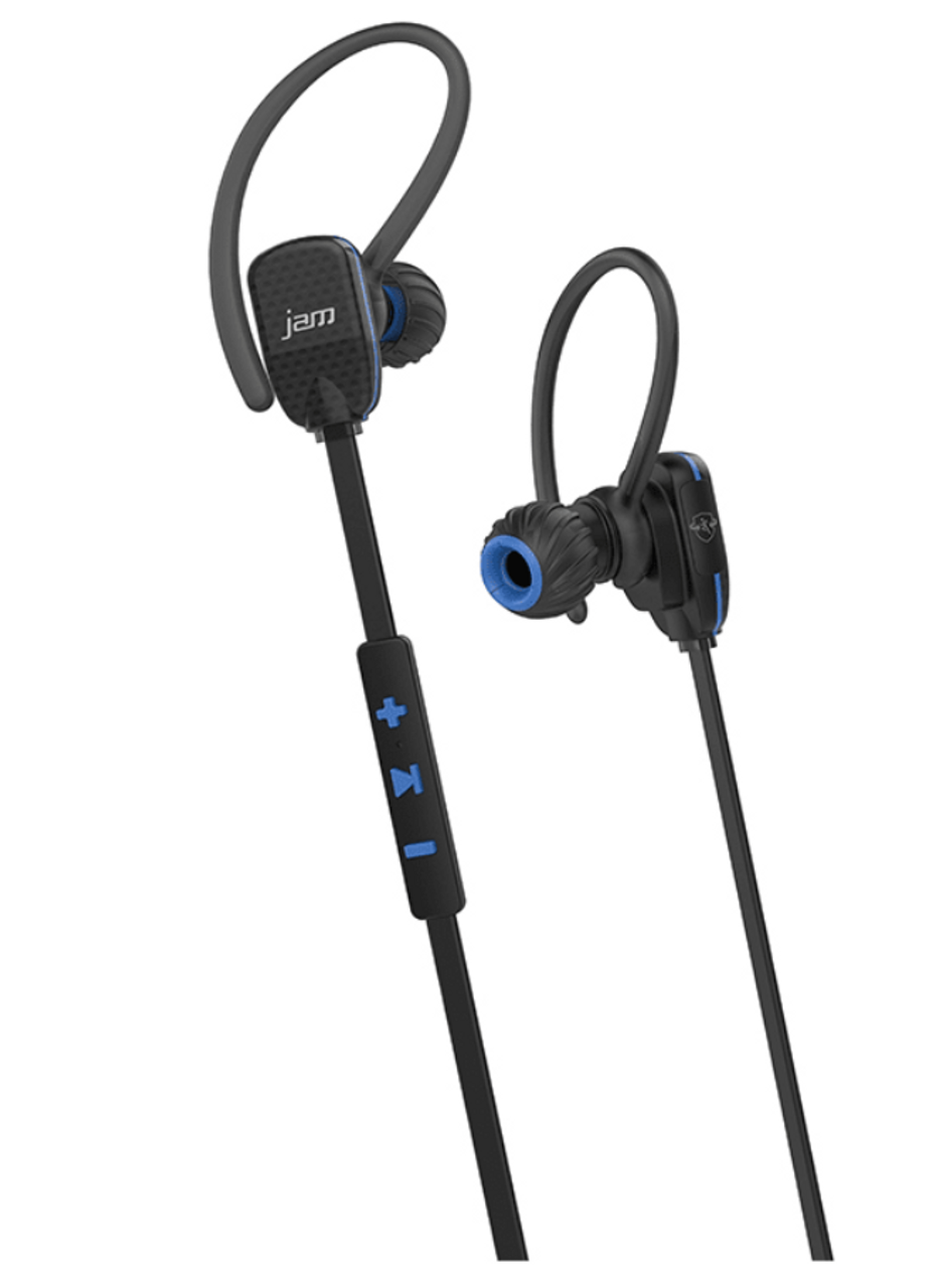 Jam HXEP510BLB/HXEP510GRB Transit Wireless Micro Sports Headphones - Blue/Green