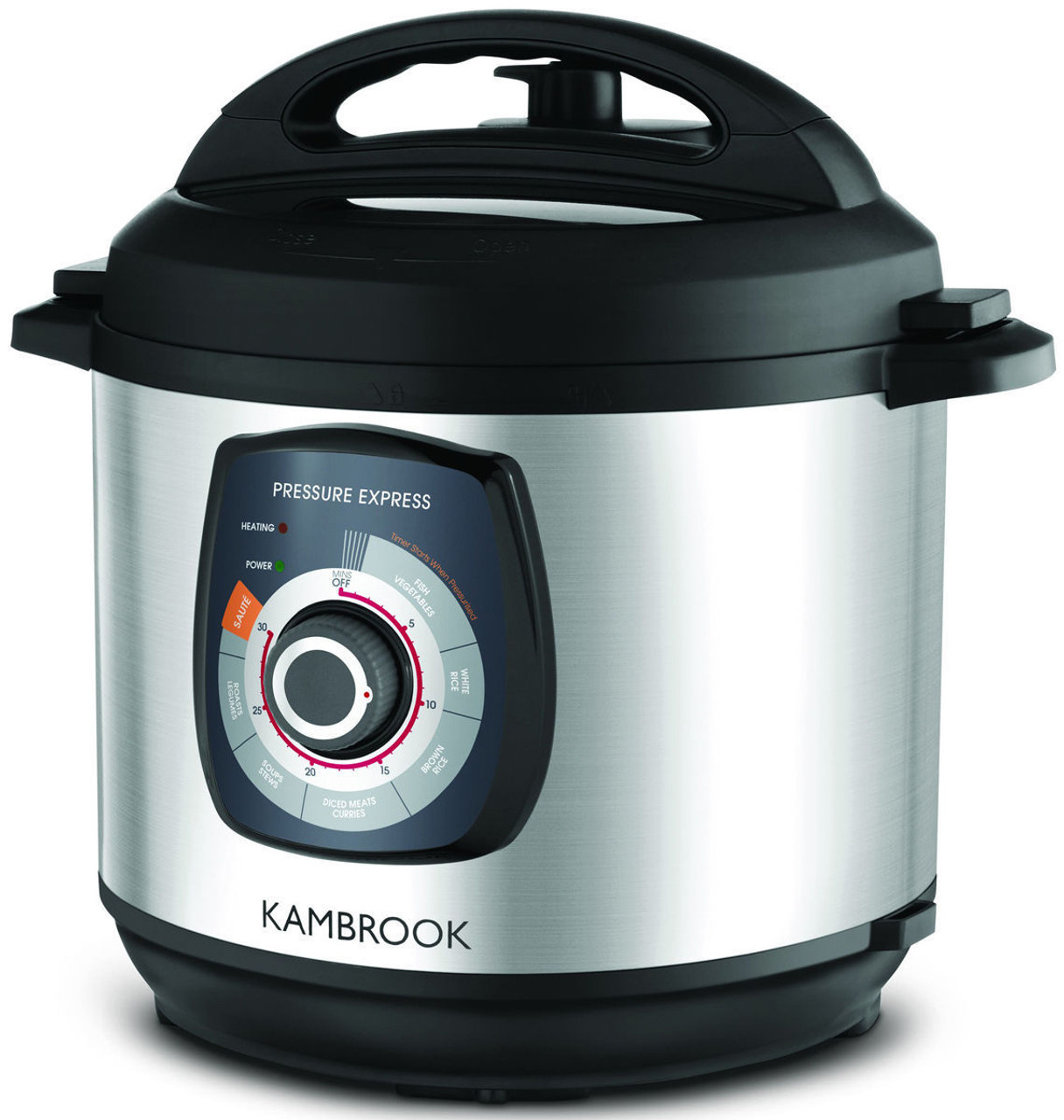 Kambrook KPR620BSS Pressure Express Pressure Cooker Sauté & Pressure Cook