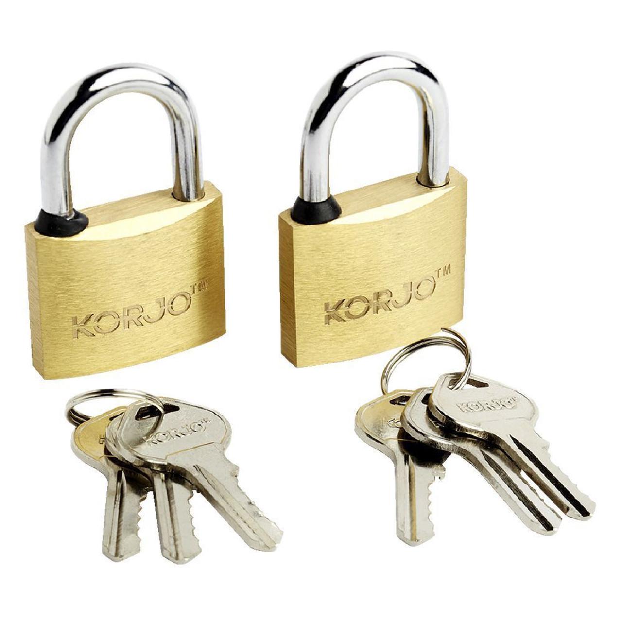 Korjo L40D Rust Proof Solid Brass Body Locks 40mm 2 Pack