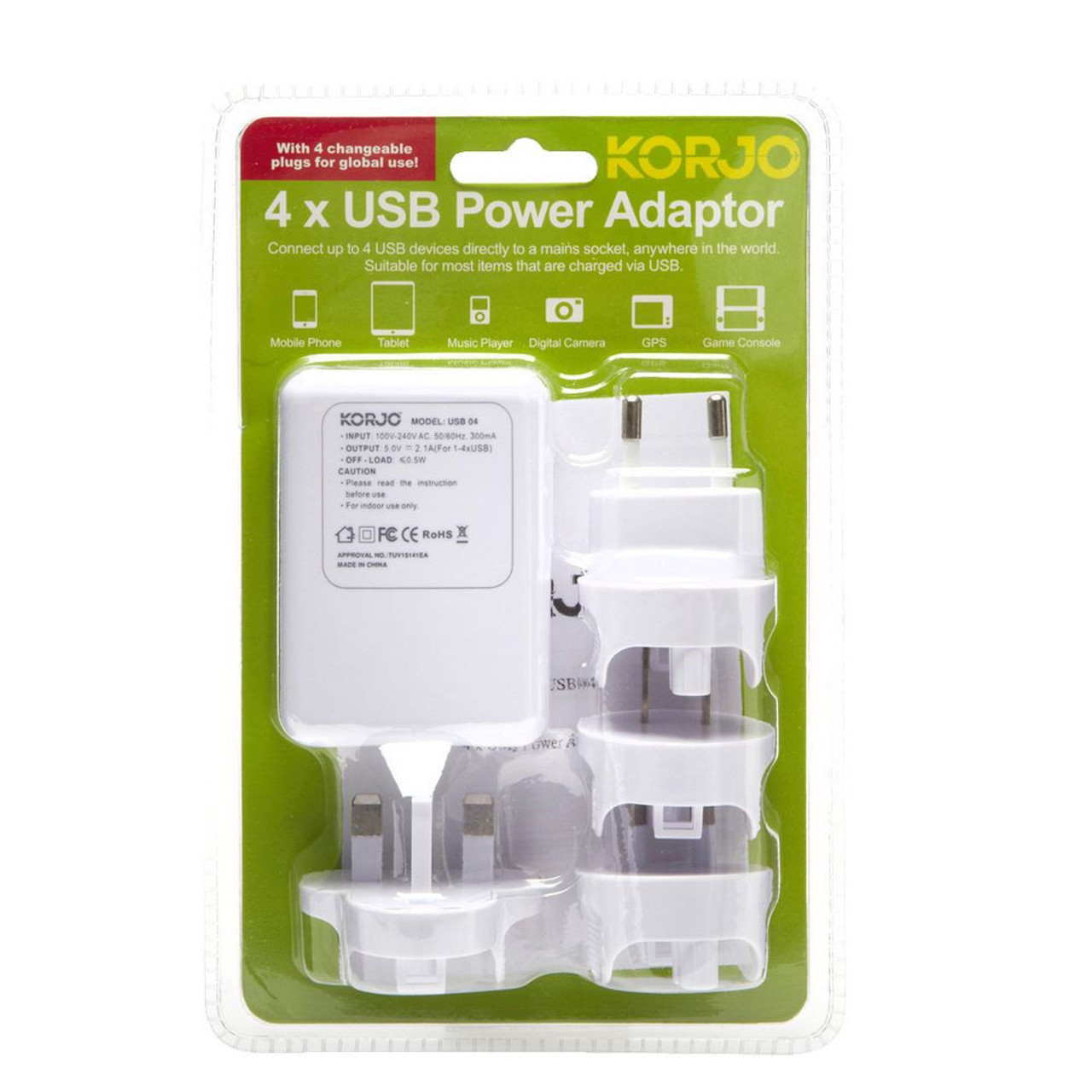 Korjo USB04 USB x4 Power Hub