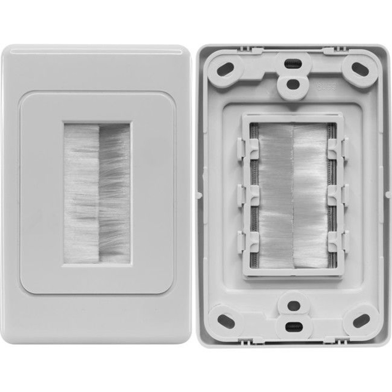 Pro2 ECO1272 Brush Wall Plate - White Plastic Eco Version