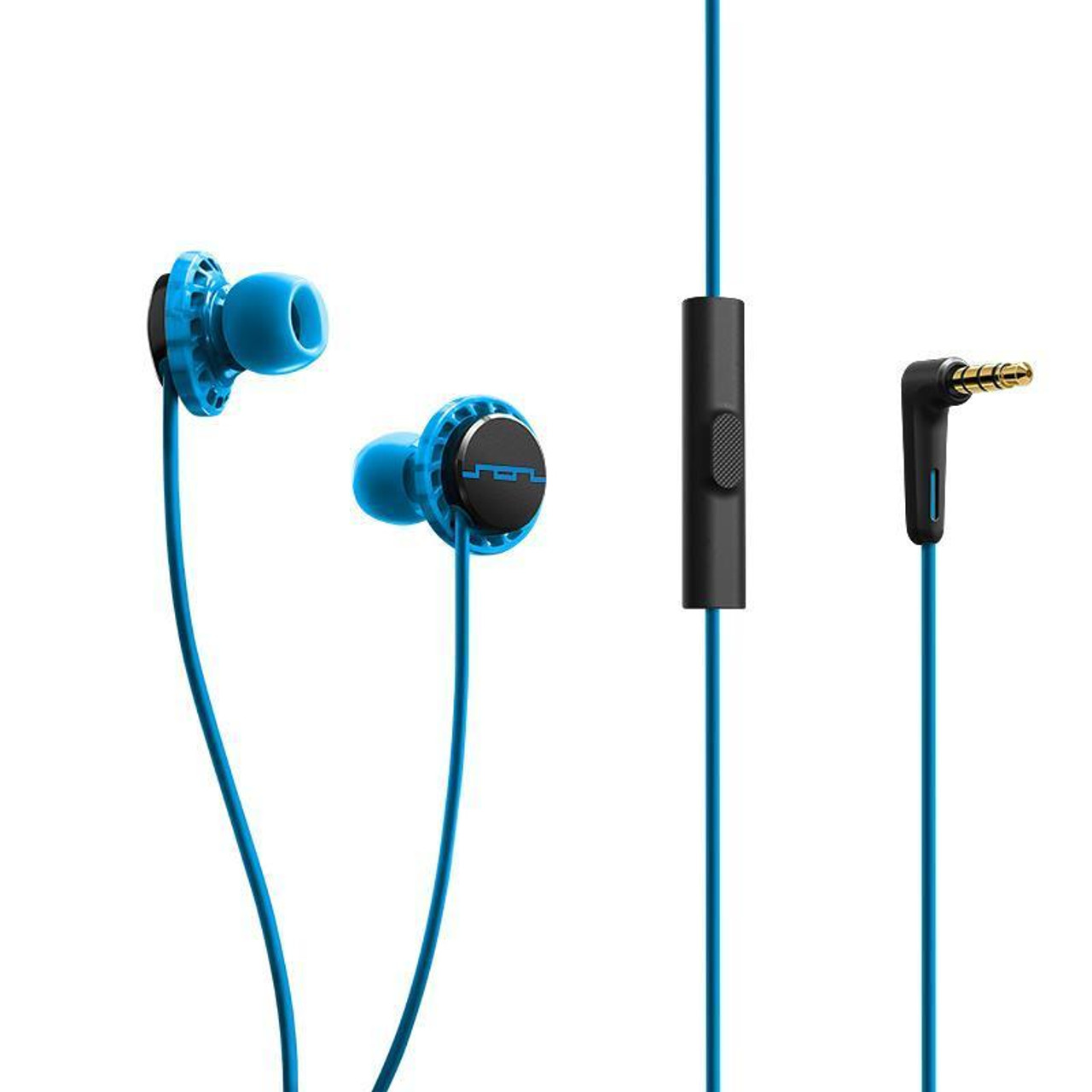 Sol Republic SOL-EP1152BL/SOL-EP1152LM Relay Sport MFI Headphones Blue/Lemon