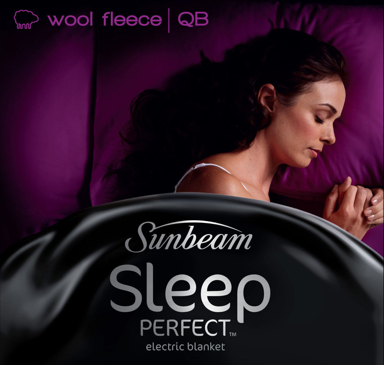 Sunbeam BL5651 Sleep Perfect™ Wool Fleece Heated Blanket - Queen Bed