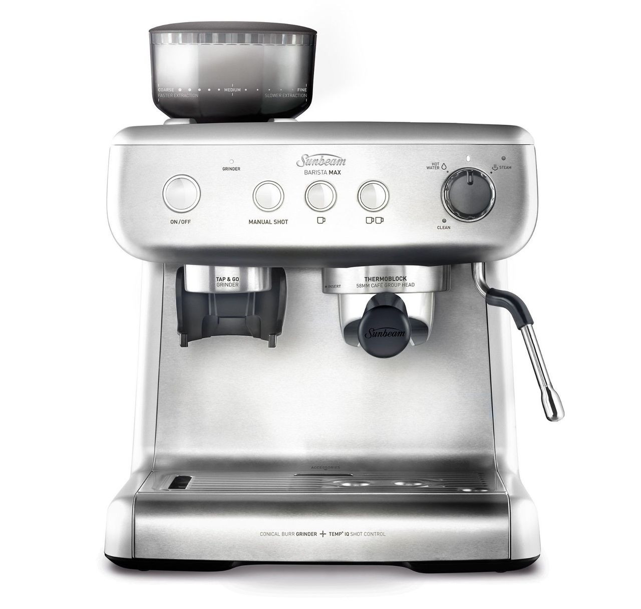 Sunbeam EM5300 Barista Max Espresso Machine 58mm Size Group Head