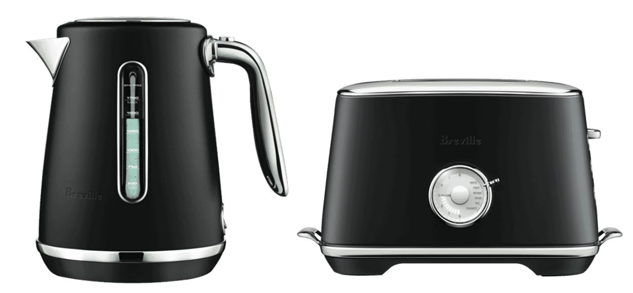 Breville BTA735BTR BKE735BTR Luxe Toaster & Kettle Pack - Black