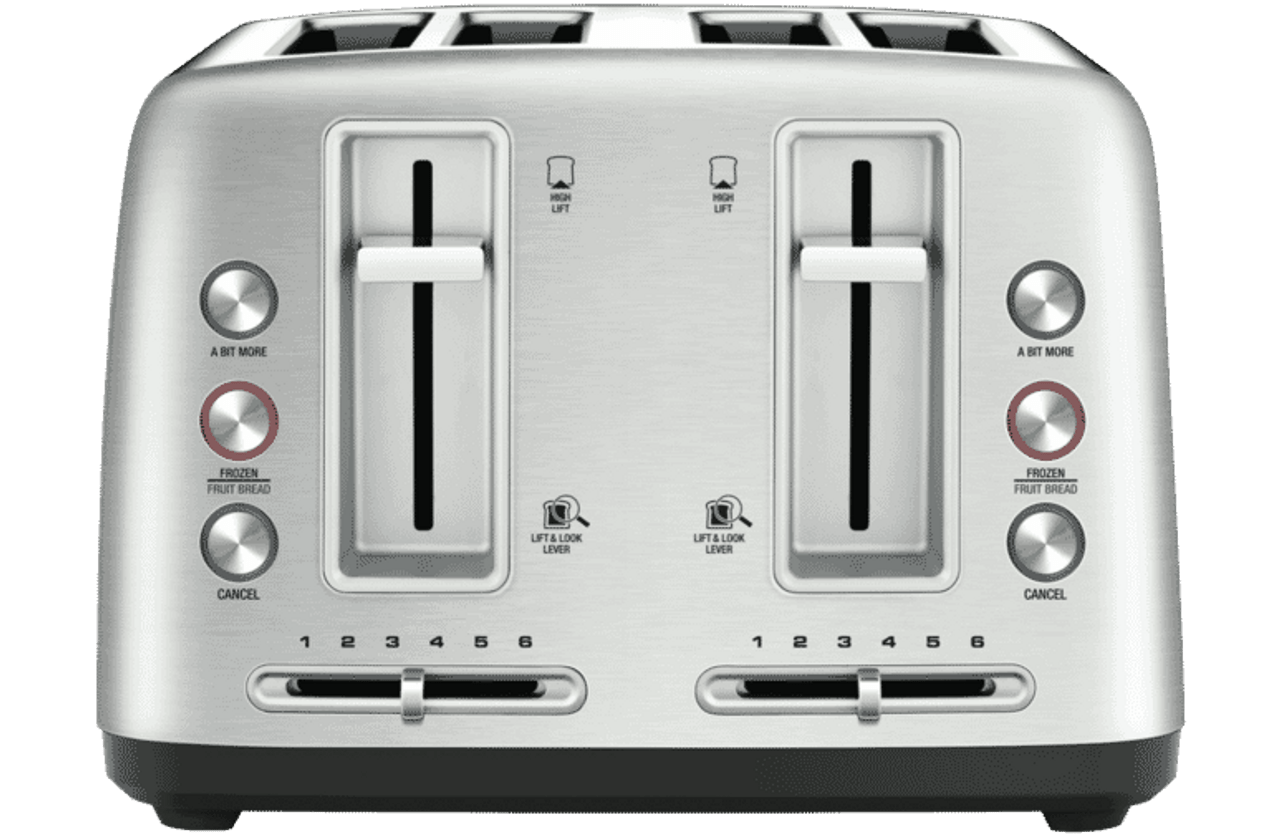 Breville LTA670BSS The Toast Control 4 Slice Wide-Slot Toaster - Silver