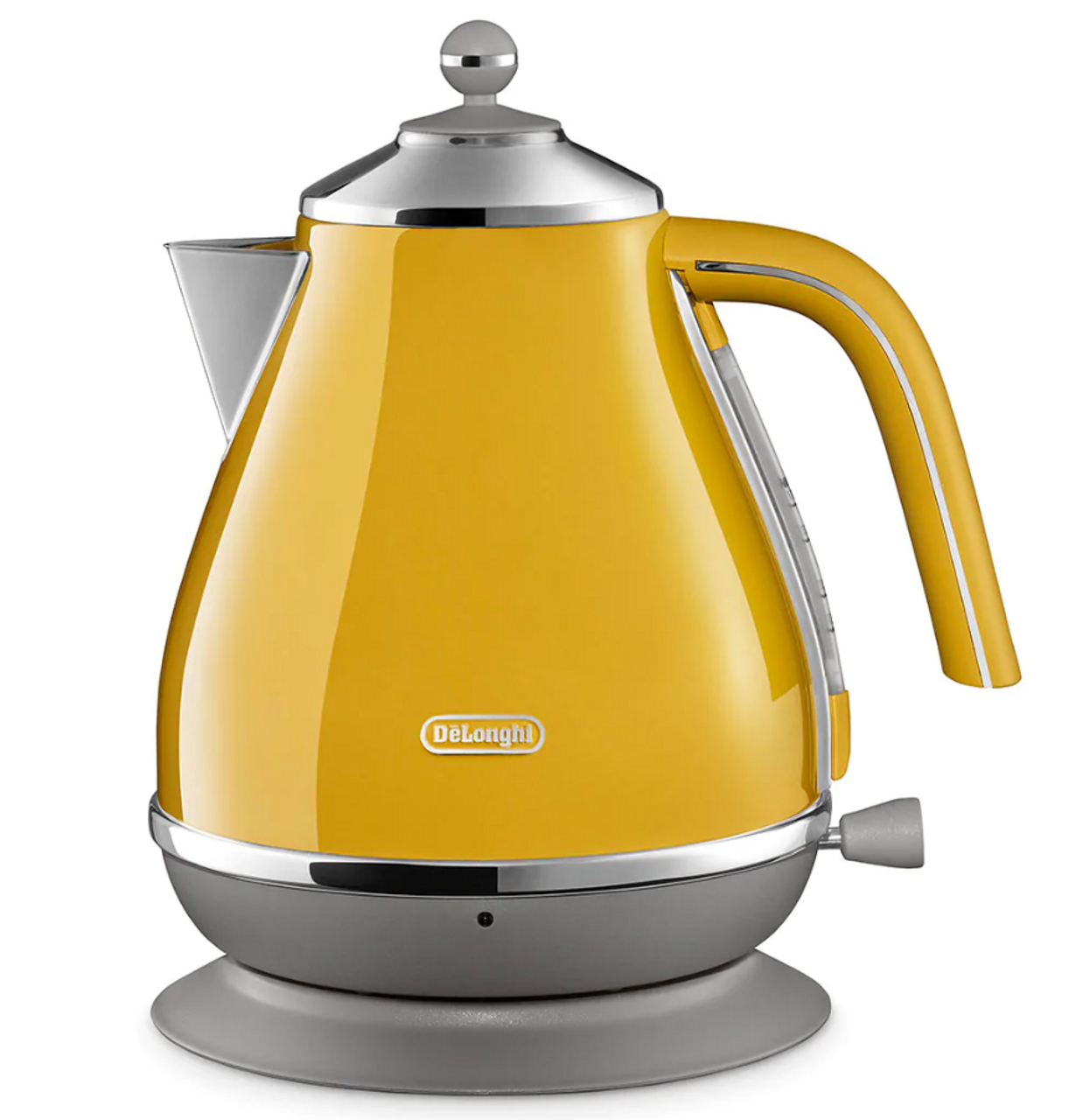 Delonghi KBOC2001Y 1.7L Icona Capitals Kettle with Swivel Base - New York Yellow