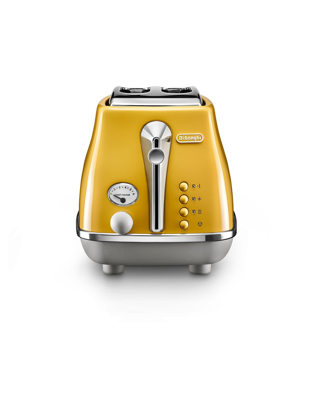 Delonghi CTOC2003Y KBOC2001Y Icona Capitals Toaster + Kettle PACK - New York Yellow
