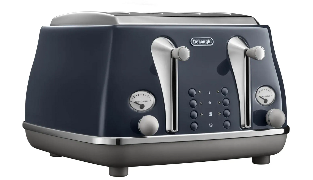 Delonghi CTOC4003BL Icona Capitals 4 Slice Toaster - London Blue - RRP $169.00