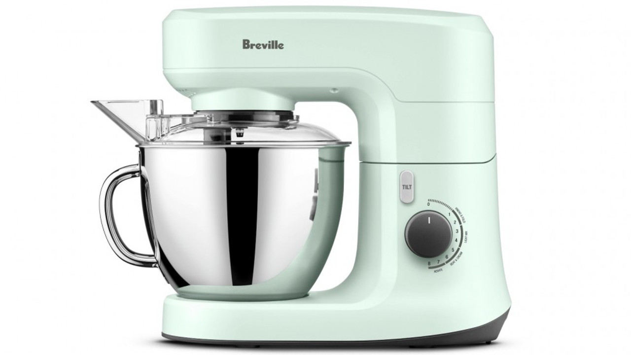 Breville LEM250SIL/MIN/BBY/SST the Scraper Beater™ 4.5Lt 700W Mixer - Silver/Mint/Blueberry/Sea Salt