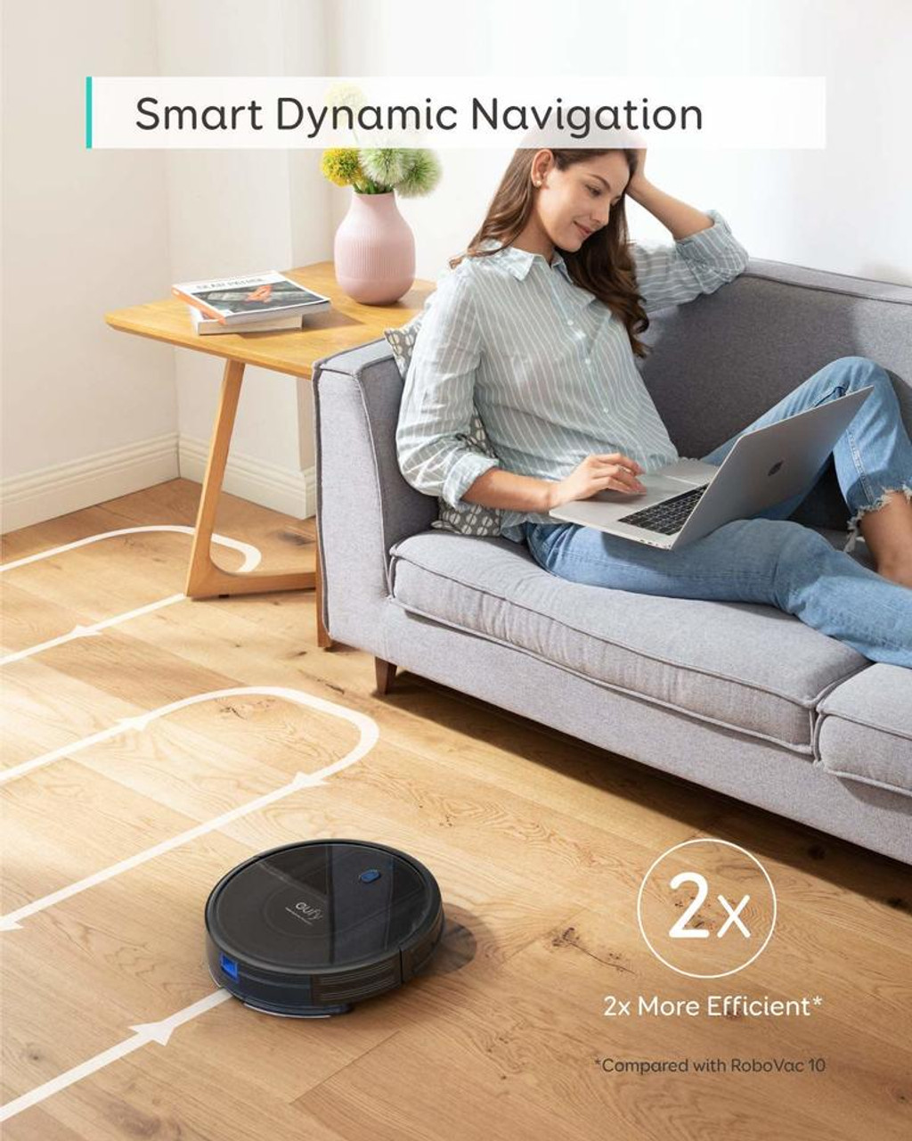 Eufy T215OT11 G10 Hybrid Smart Home RoboVac Vacuum and Mop