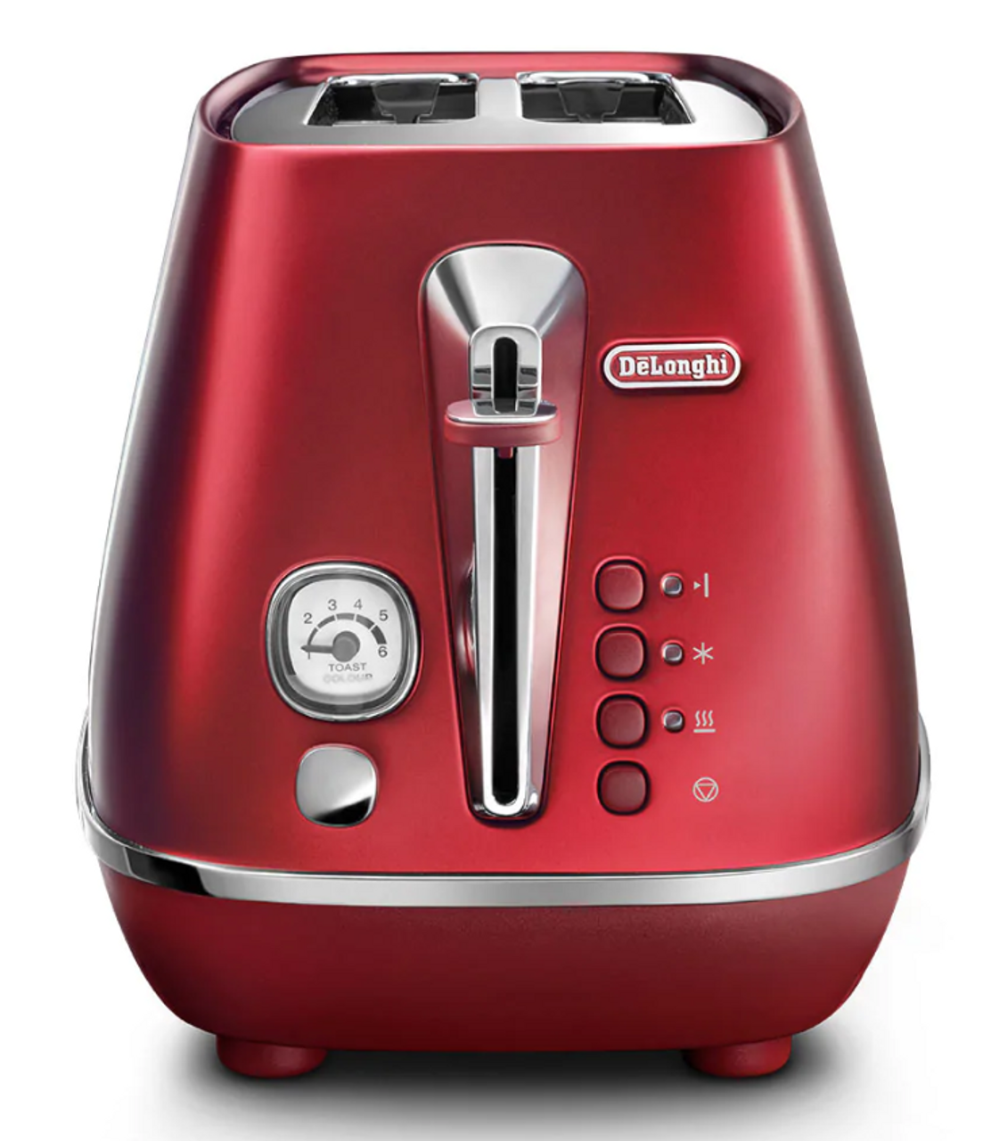Delonghi CTI2003R Distinta Flair 2 Slice Toaster With Non-slip Feet- Glamour Red