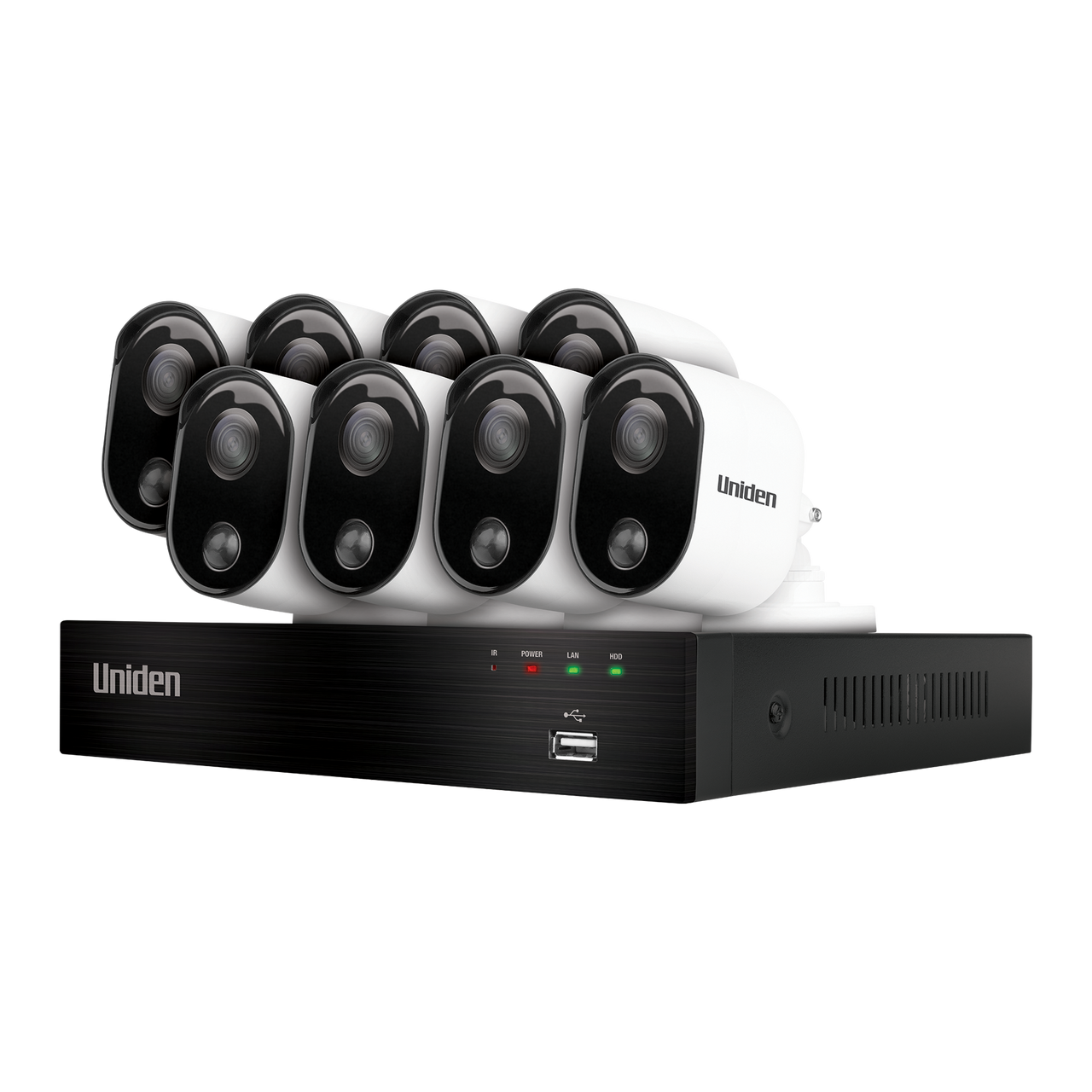 Uniden GDVR20880 Guardian 1TB Full HD 8 Camera Thermal Sensing Weatherproof CCTV System