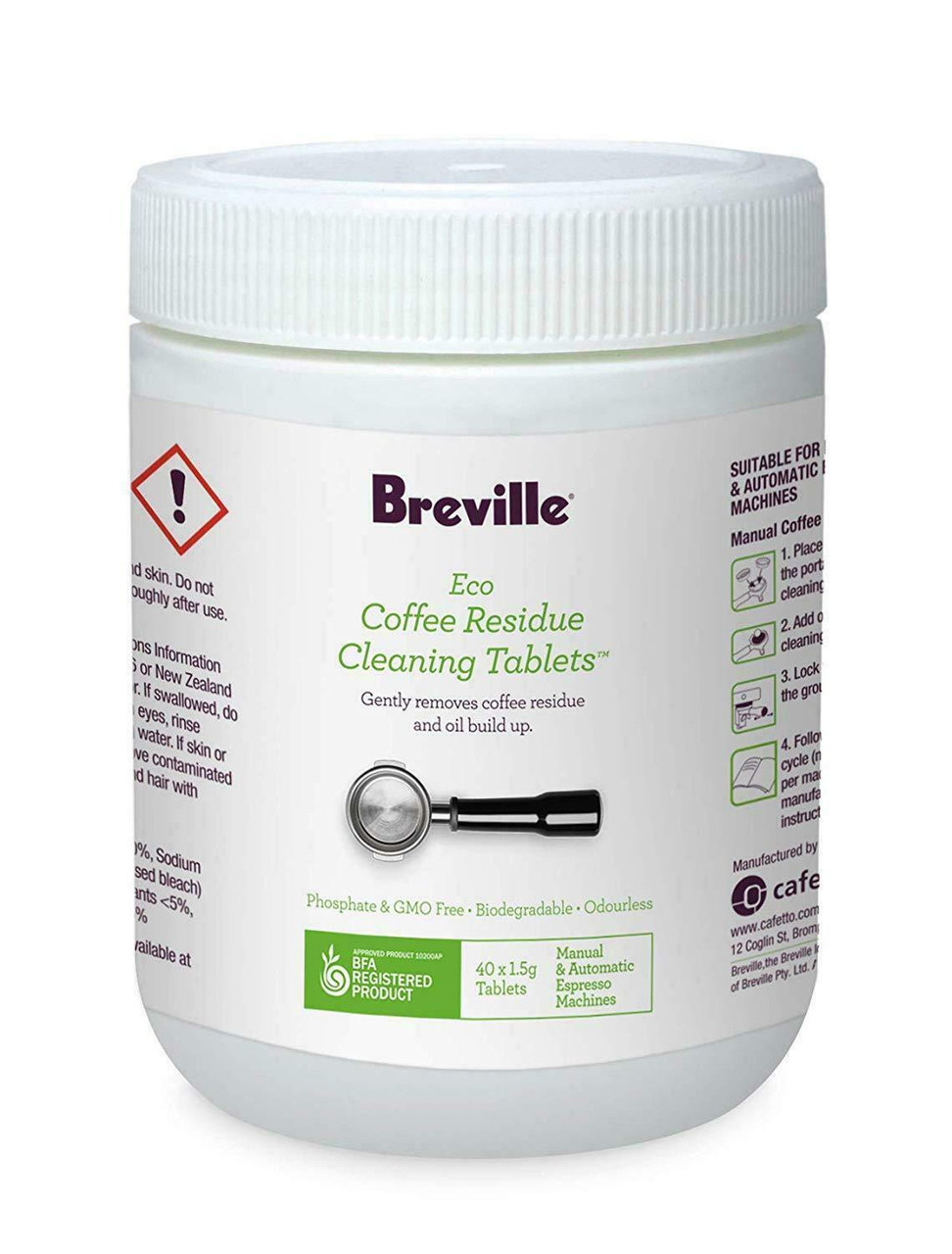 Breville BES013CLR Eco Coffee Residue Cleaner 40 Pack for Espresso Machines