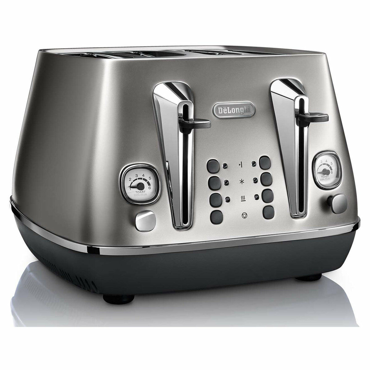 DeLonghi CTI4003S Distinta Flair 1800 Watt 4 Slice Toaster - Finesse Silver