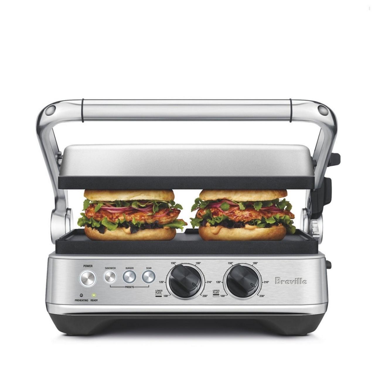 Breville BGR710BSS the Sear & Press™ Grill Sandwich Presser - Stainless Steel