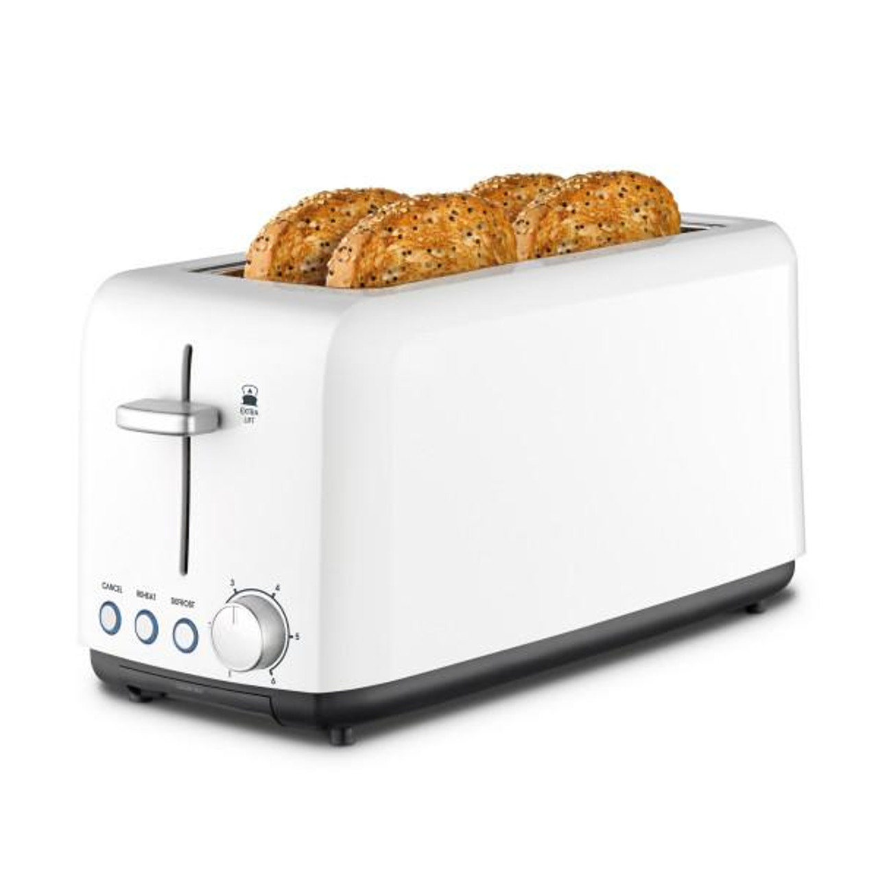 Kambrook KTA140WHT A Perfect Fit 1450W 4 Slice Wide Slot Toaster - White