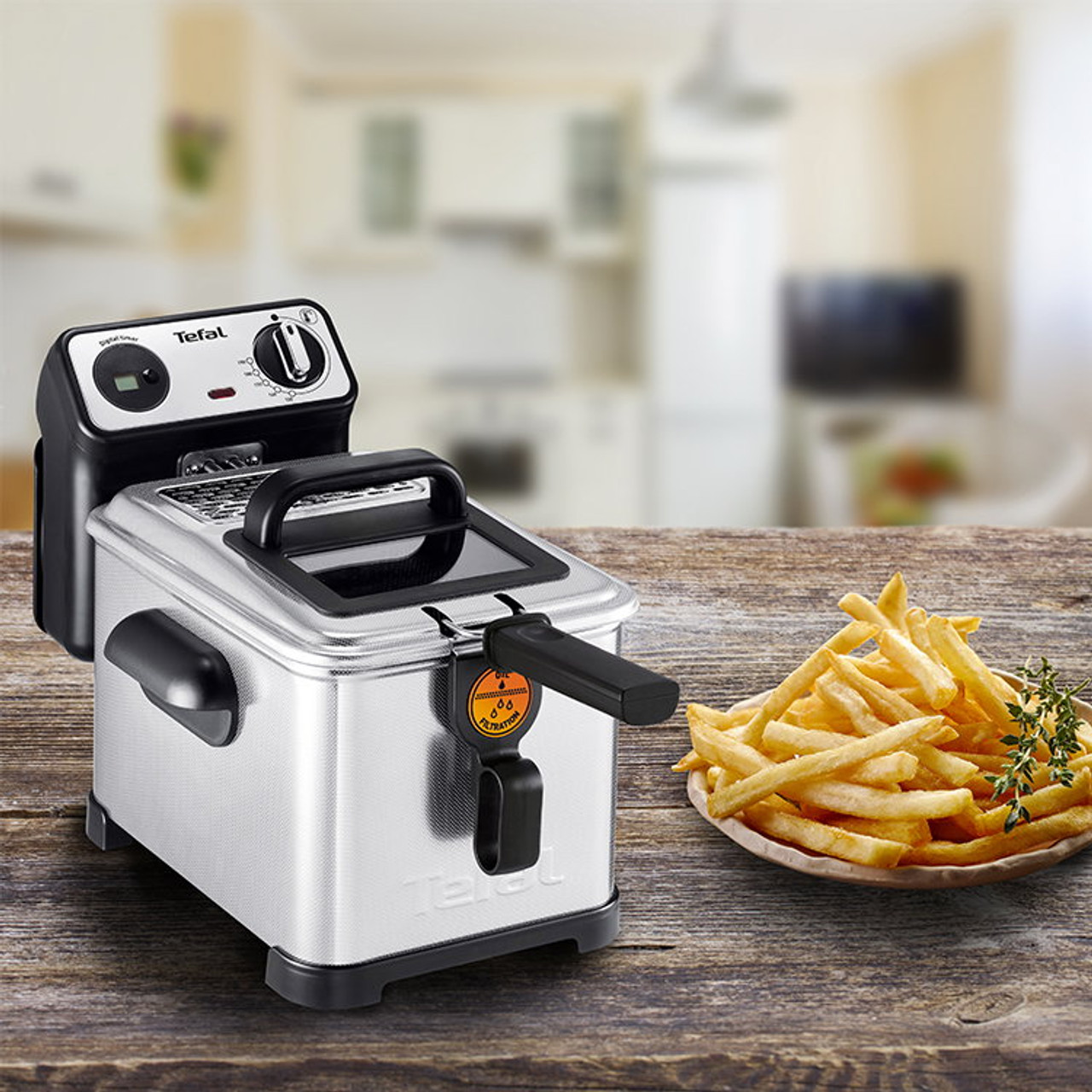 Tefal FR5181 Filtra Pro 2300W Deep Fryer with 4L Oil and 2.3KG Food Capacity