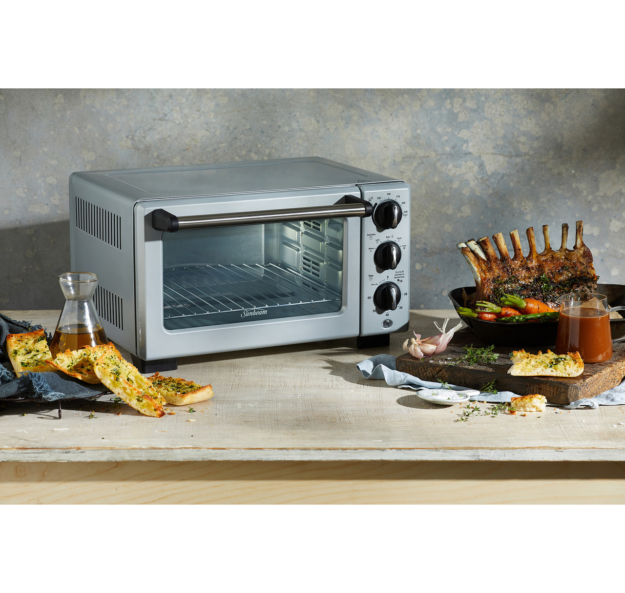 Sunbeam COM3500SS Convection Bake & Grill 18L Compact Oven - Silver