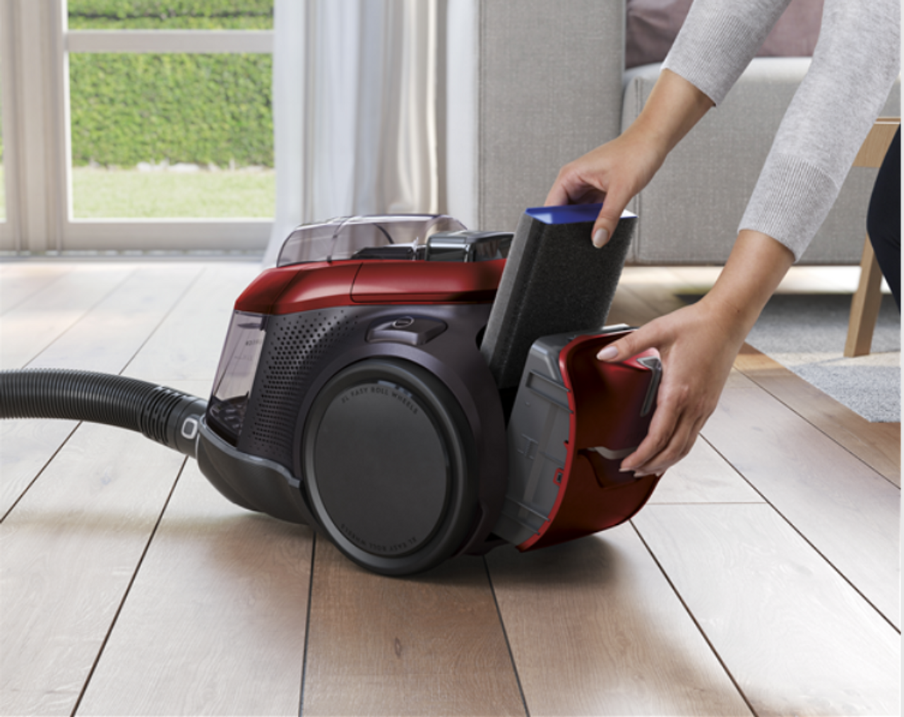 Electrolux PC91-ANIMA Pure C9 Animal 1700W Bagless Vacuum Cleaner - Chili Red