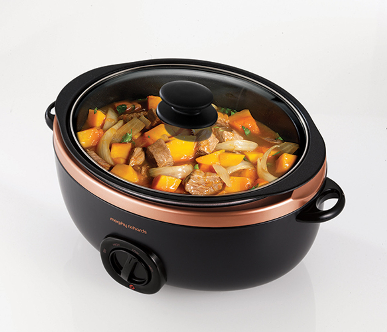 Morphy Richards 461016 3 Setting Sear and Stew 6.5L Slow Cooker - Rose Gold