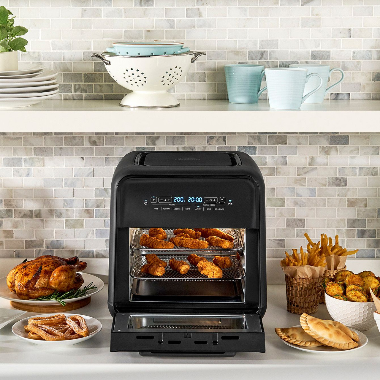 Sunbeam AFP5000BK 4-In-1 10L Air Fryer and Oven with 4 Presets with Timer