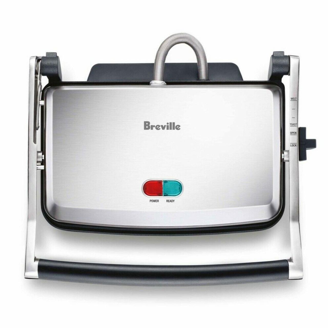 Breville BSG220BSS the Toast & Melt™ 2 Slice Sandwich Press - Stainless Steel