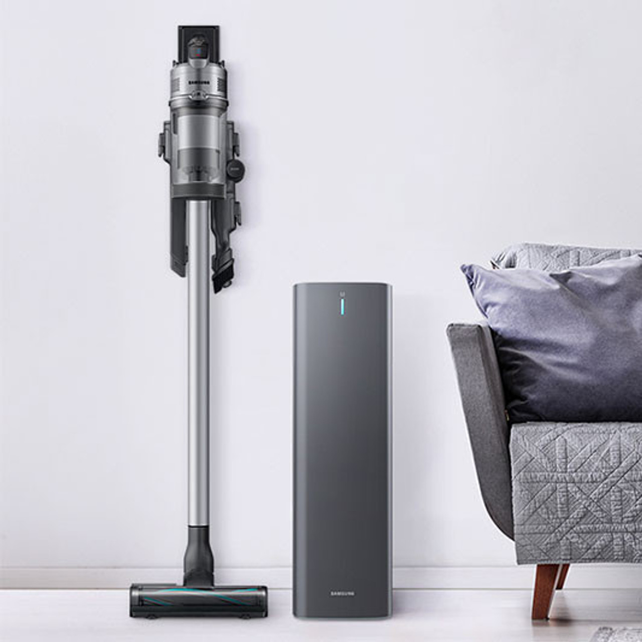 Samsung VCSA-SAE90A Jet Clean Station™ with Air Pulse Technology - Silver