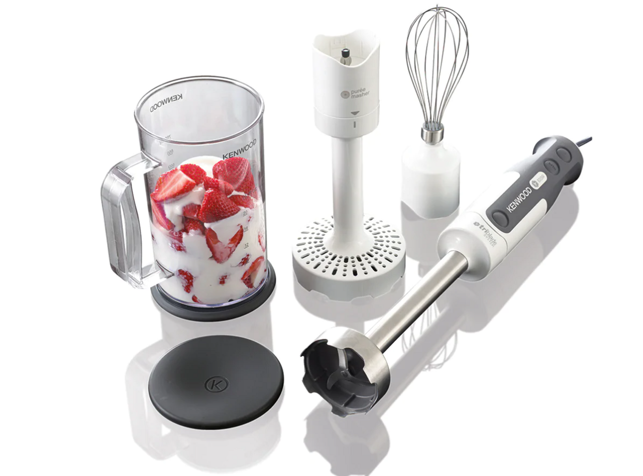 Kenwood HDP306WH Triblade 800W Hand Blender with SureGrip™ Handle