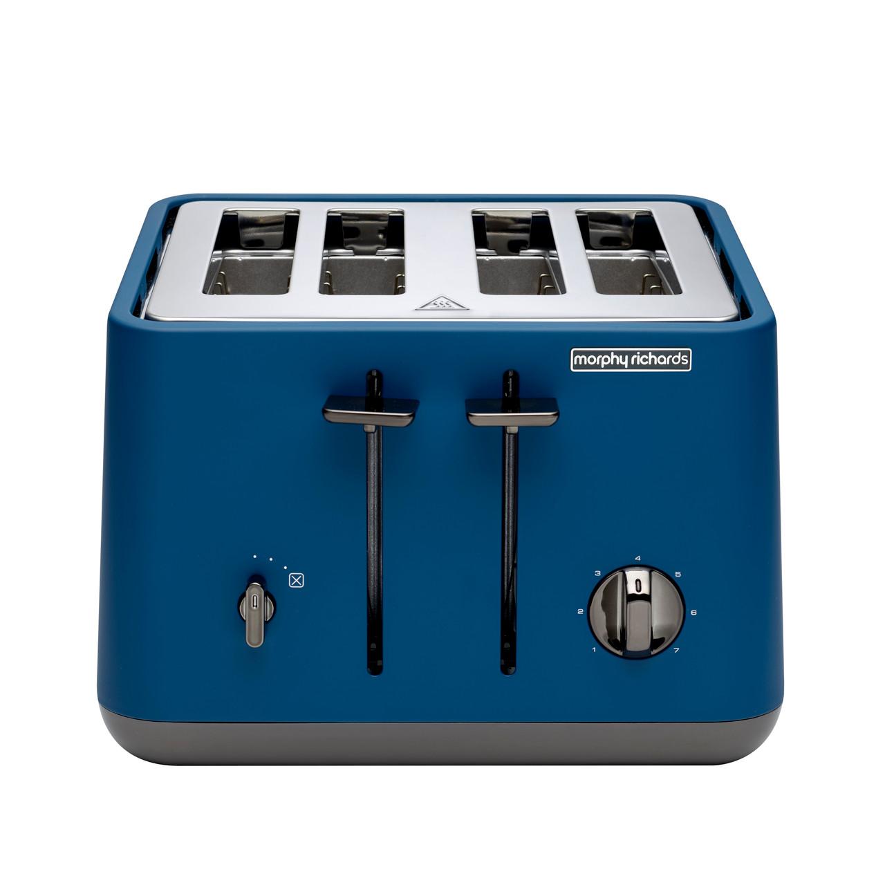 Morphy Richards 240022 Aspect Black Chrome 1880W 4 Slice Toaster – Deep Blue
