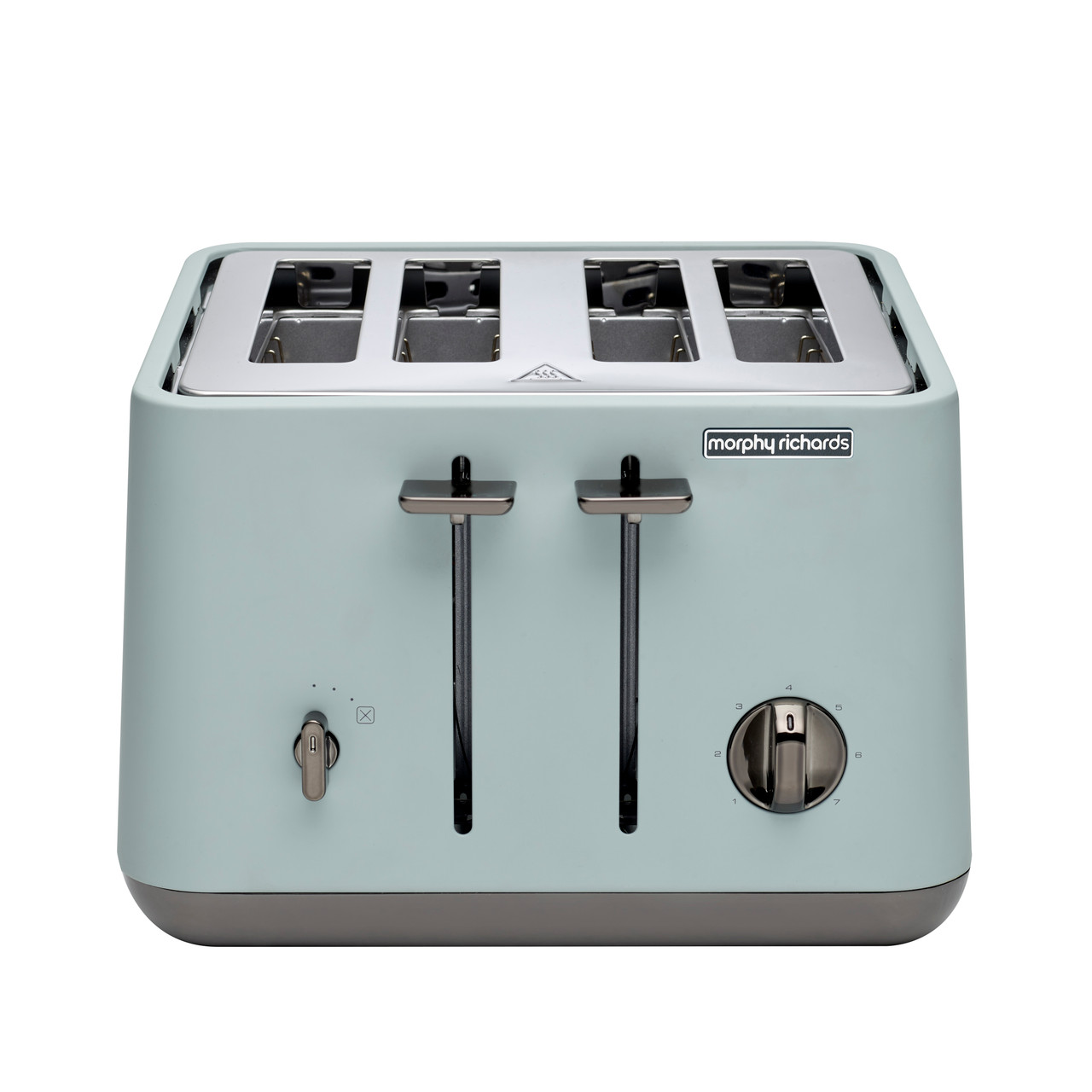 Morphy Richards 240025 Aspect Black Chrome 1880W 4 Slice Toaster – Willow Green