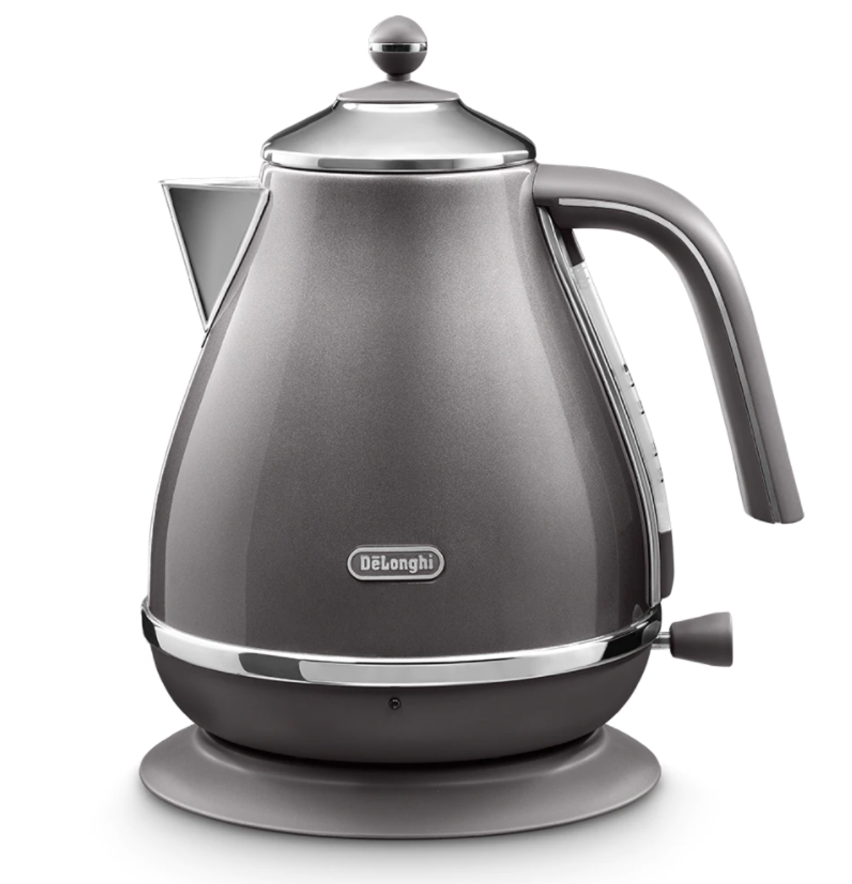 Delonghi CTOT4003GY KBOT2001GY Icona Metallics Toaster + Kettle – Grey