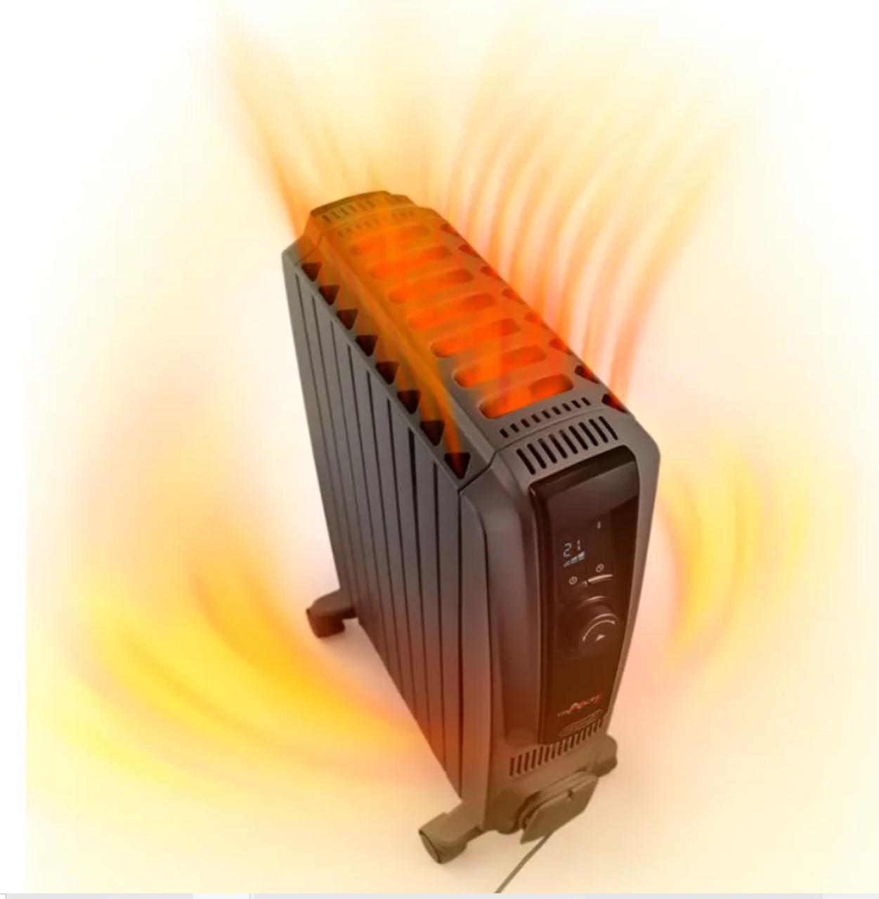 Delonghi TRDX41024E.G 2400W Dragon 4 Electric Oil Column Heater w/ Timer
