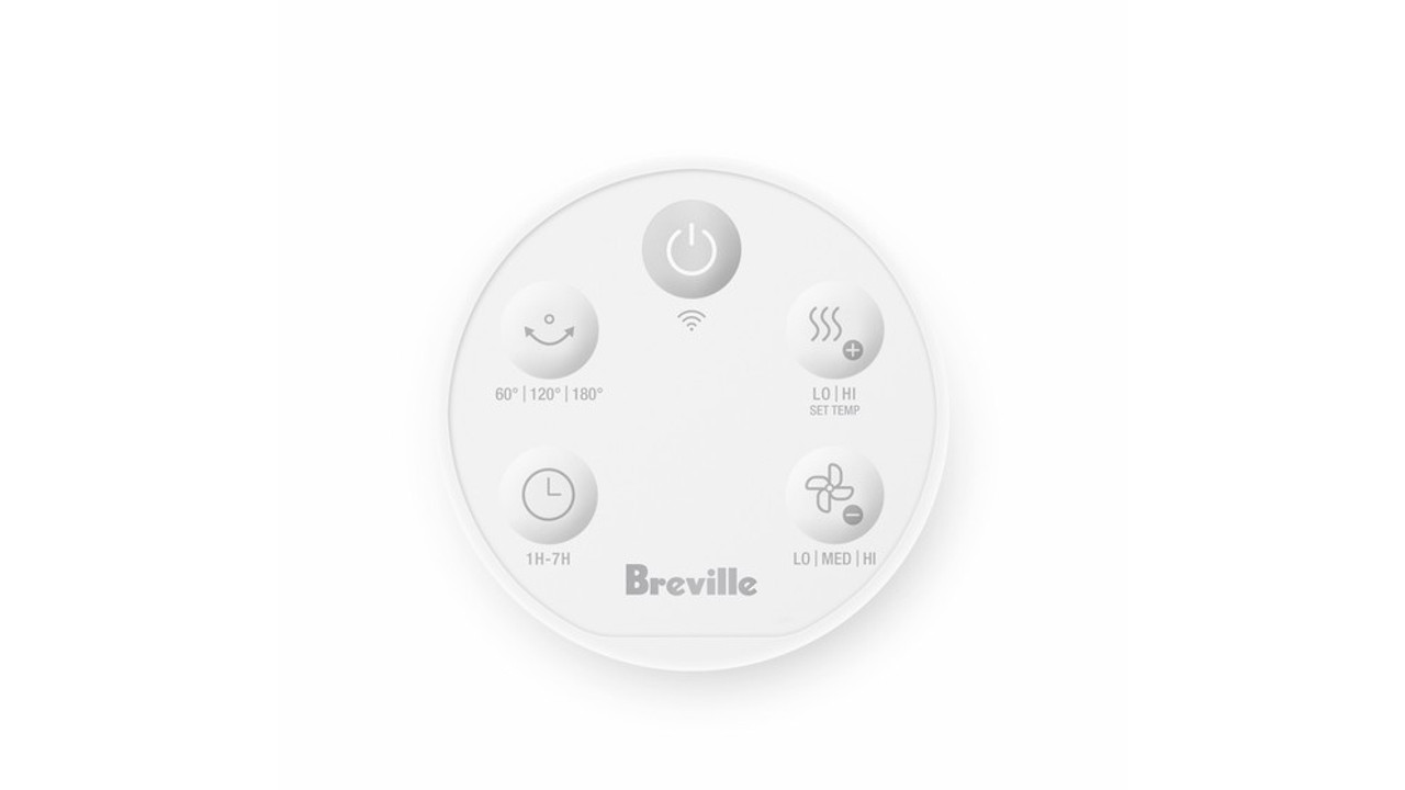 Breville LPH408WHT2JAN1 1800W AirRounder Connect Heater, Fan and Purifier