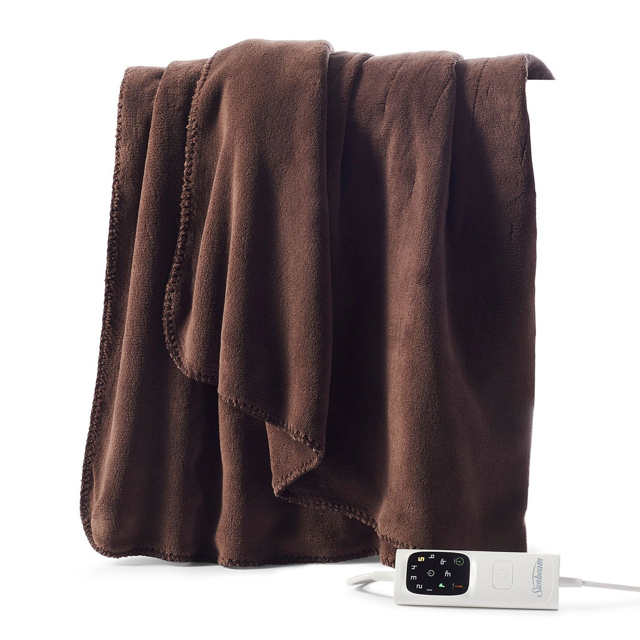 Sunbeam TRF4100 Sunbeam Feel Perfect Sherpa Fleece Heated Throw Blanket