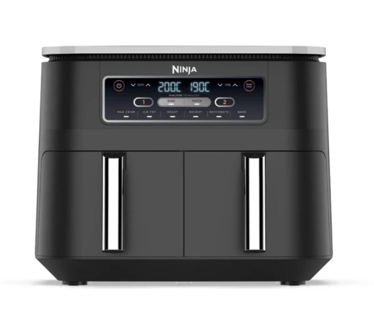 Ninja AF300 Foodi Dual Zone Deluxe Digital 1670W Air Fryer - Grey