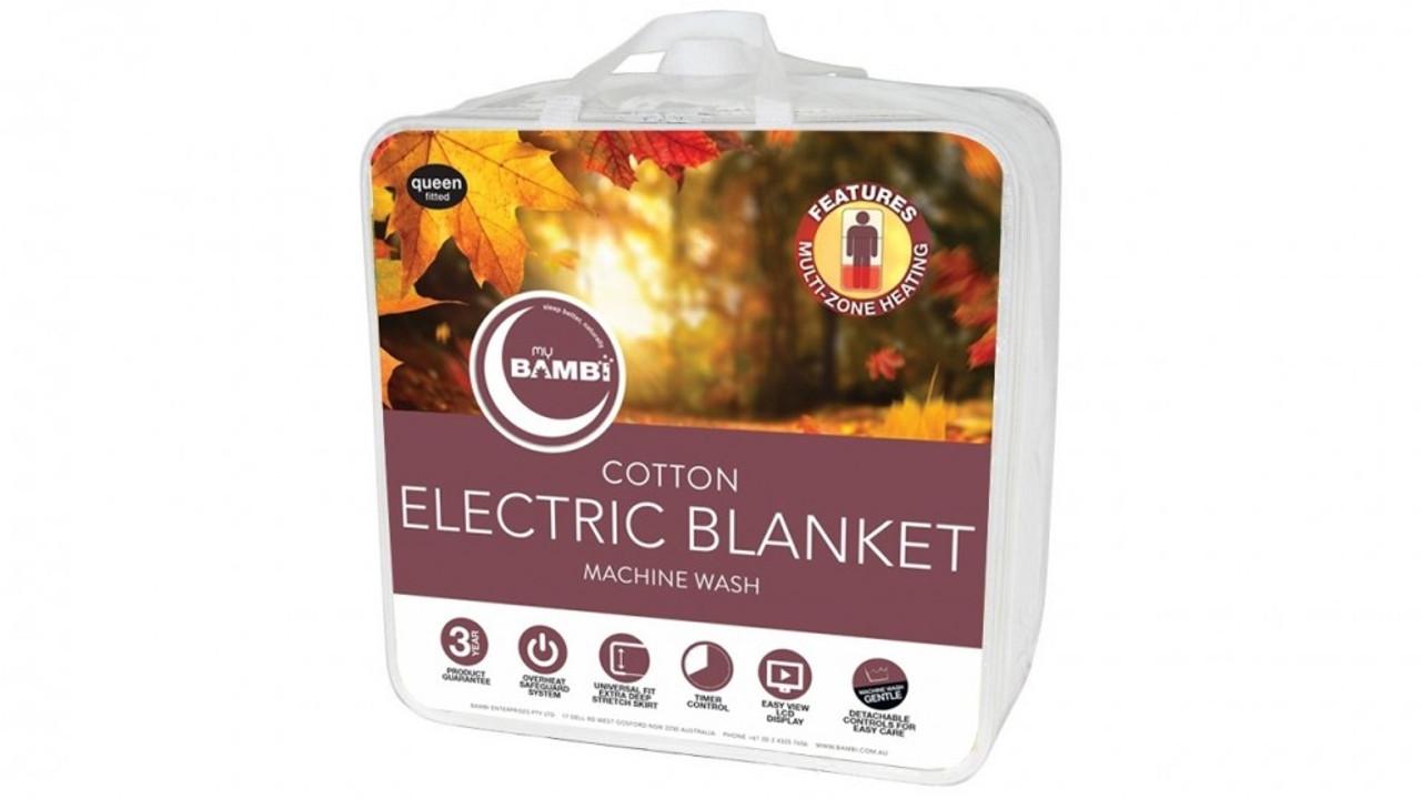 Bambi EBCOT20BAMKS Electric Cotton Blanket - King Single