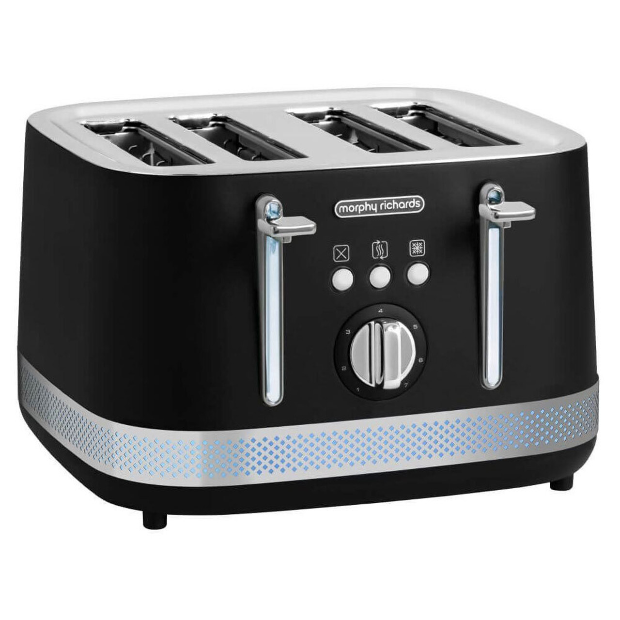 Morphy Richards 108020 248020 Illumination Kettle & 4 Slice Toaster PACK - Black