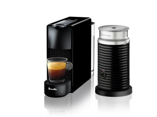 Breville BEC250 Essenza Bundle Nespresso Machine - Black - White - Grey-RRP $249.00