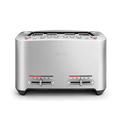 Breville BTA845BSS the Smart Toast® 4 Slice Toaster - Stainless Steel