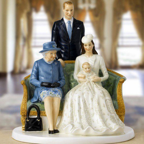 Royal Doulton Royal Commemoratives A Royal Christening Figurine 22cm