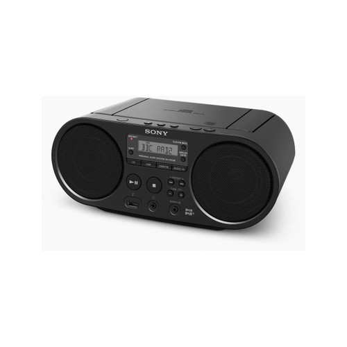 Sony ZS-PS55B Boombox CD Player with FM DAB and USB Playback - Black
