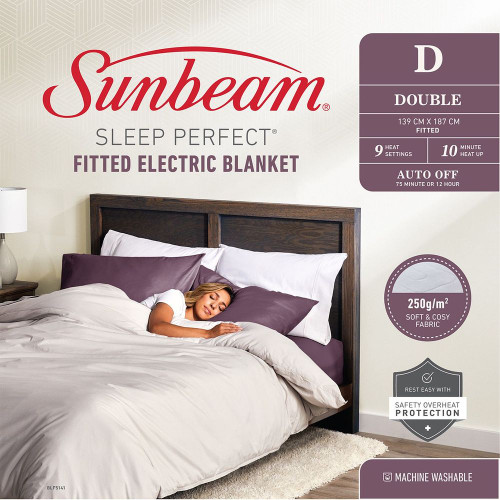 Sunbeam BLF5141 Sleep Perfect™ Fitted Heated Blanket - Double Bed