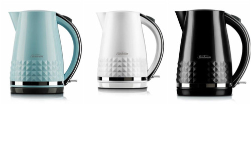 Sunbeam KE1900W KE1900K KE1900B Diamond Collection Kettle - White - Black - Blue
