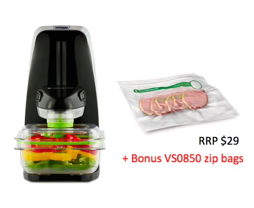 Sunbeam VS1300 FoodSaver® Fresh Vacuum Seal Machine - with 12 BONUS Zipper Bags!