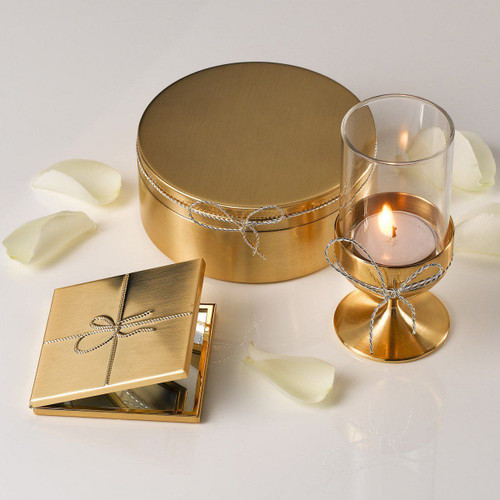 Vera Wang BY Wedgwood Love Knots Gold Compact Mirror - RRP $99.95