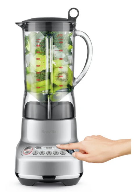 Breville BBL620SIL2IAN1V The Fresh & Furious Blender with Timer - Silver