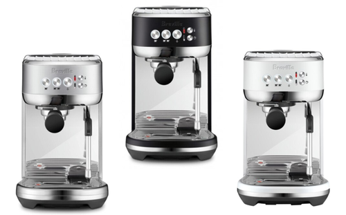 Breville BES500BSS/BTR/SST the Bambino Plus Espresso Machine Silver/Black/Salt
